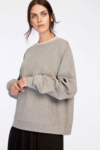 samsoe samsoe robin sweatshirt grey