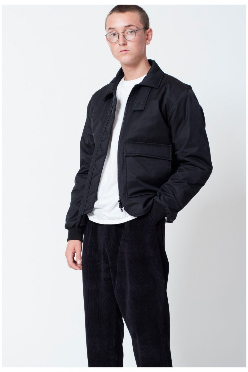 MFPEN Tress Collared Bomber Jacket in black - COMERC STORE