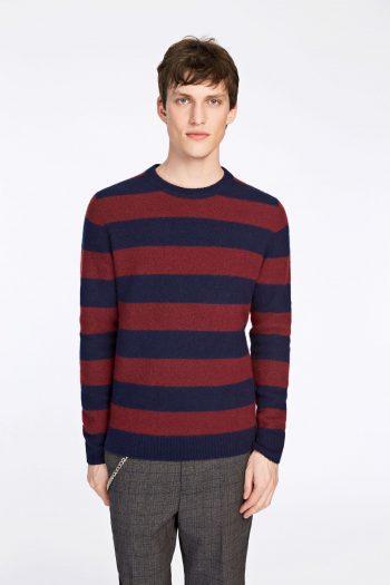 samsøe samsøe butler knit wine stripe