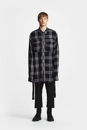 Odeur Studios Massive Shirt black white check