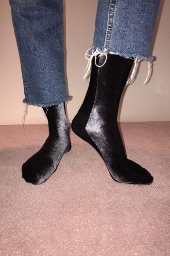 simone wild velvet socks anthrazit