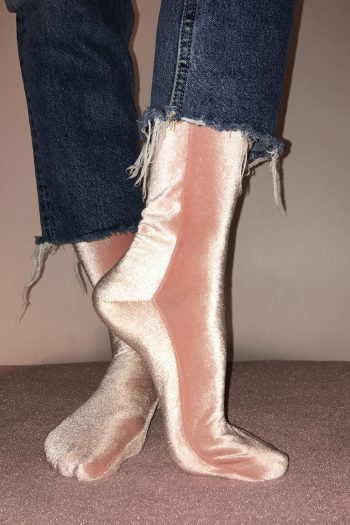 simone wild velvet socks light pink