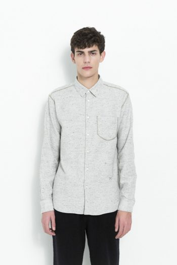 Soulland Logan Shirt Pocket Light Grey