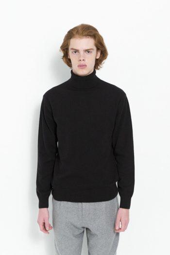 Soulland Rhodes Roll Neck Sweater Black