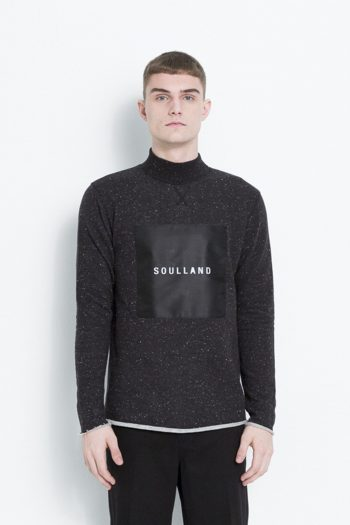 Soulland Ripped Turtleneck Sweat Black