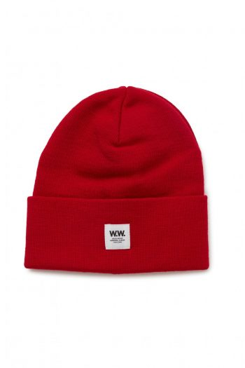 Wood Wood Gerald Tall Beanie red