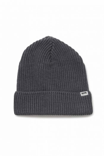 Wood Wood Henry ribbed beanie grey
