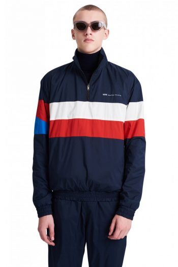 WOOD WOOD Holborn Jacket navy stripes