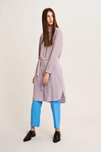 Samsoe Samsoe Bristo Shirt Dress in woodrose blue stripes