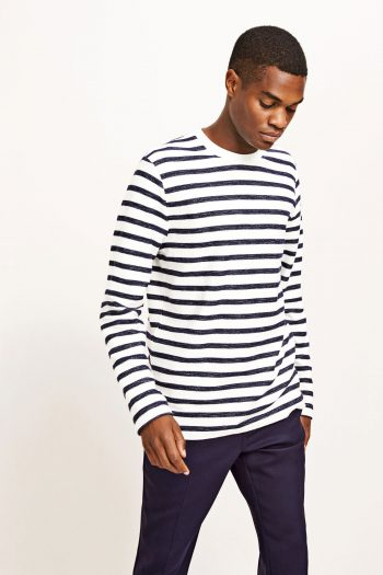 Samsoe Samsoe Tat Longsleeve in clear cream stripe