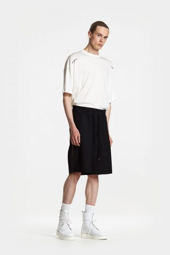 Odeur Cord Long Shorts in black