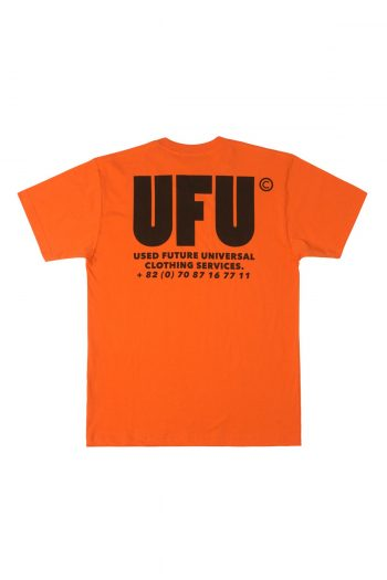 USED FUTURE UFU AD T-Shirt in orange