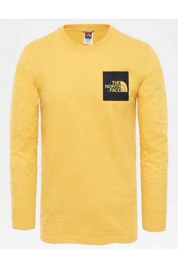 The North Face Long-Sleeve Fine T-Shirt in yellow