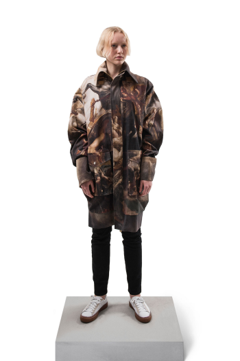 Han Kjobenhavn Oversized Jacket in painted twill