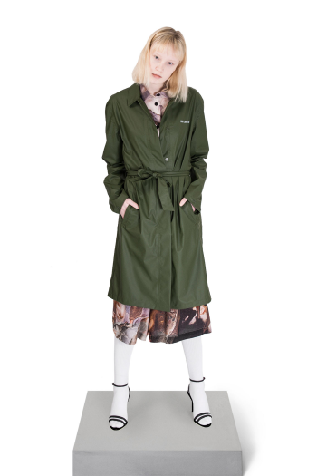 Han Kjobenhavn Rain Coat in army for women