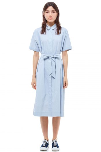 YMC Joan Dress blue white